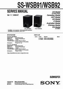 Sony Bdv-e500w  Hcd-e500w Service Manual
