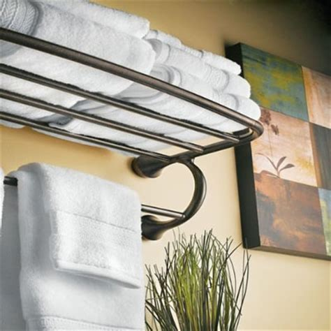 hotel towel rack keep your bath towels in order with your moen yb2894orb
