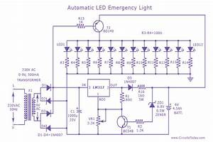 Automatic Led Emergency Light Circuit Diagram World