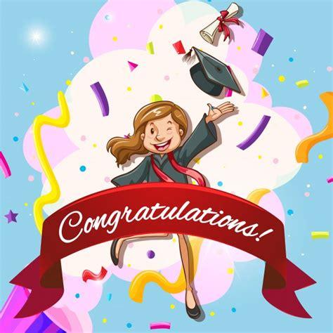 card template  congratulations  woman  graduation