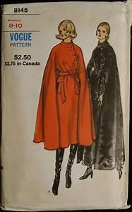 Vintage 60s Sewing Pattern Womens Elegant Cape Coat