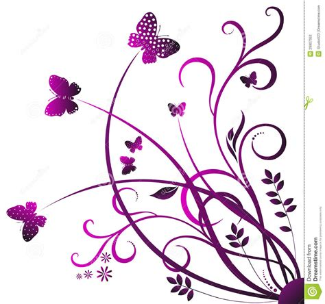 Swirl butterfly stock vector. Illustration of decorative