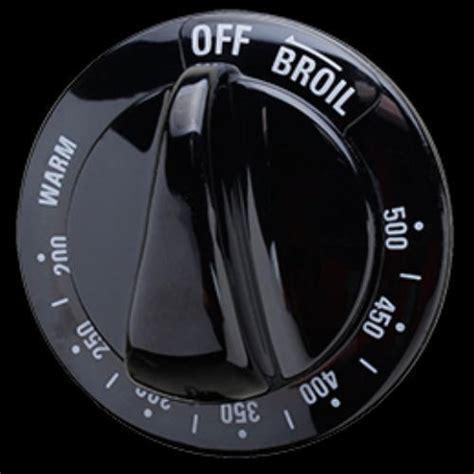 wbk  ge range oven thermostat knob black ps ap  ebay