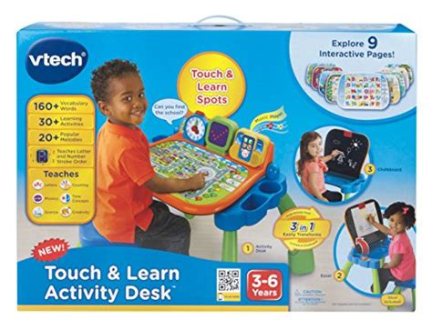 vtech touch and learn activity desk deluxe interactive learning system vtech touch and learn activity desk new ebay