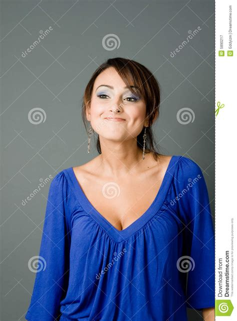 latina smiling  dimples royalty  stock photography