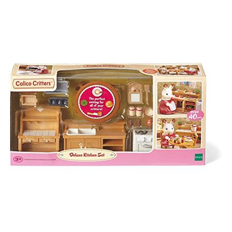 calico critters kitchen calico critters deluxe kitchen set import it all