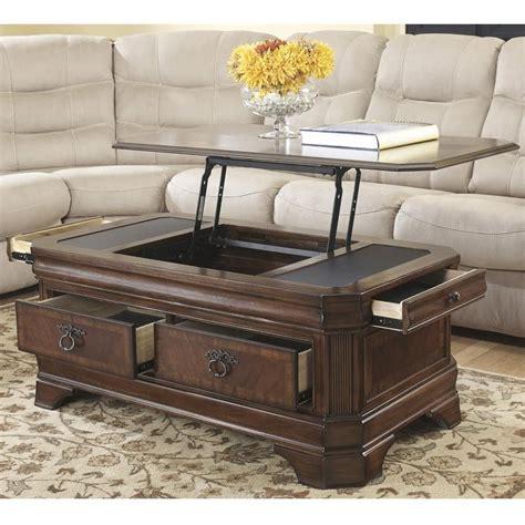 Enjoy free shipping on most stuff, even big stuff. Ashley Medium Brown Hamlyn Lift-Top Table | Adjustable ...
