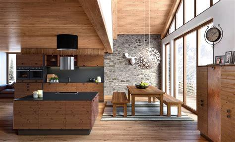cuisine originale en bois cuisine en bois moderne style chalet