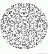 Coloring Complex Printable Mandala Comments Abstract sketch template