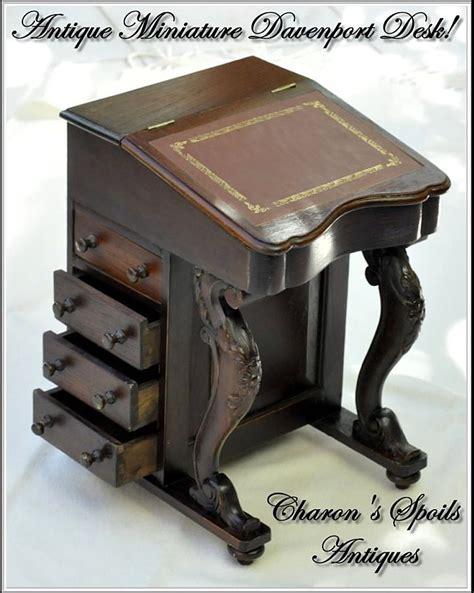 Antique Miniature Davenport Or Captain's Desk From