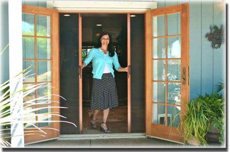 retractable screen for outswing patio door doors