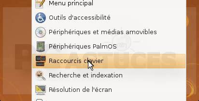 raccourci bureau ubuntu pc astuces assigner un raccourci clavier au terminal