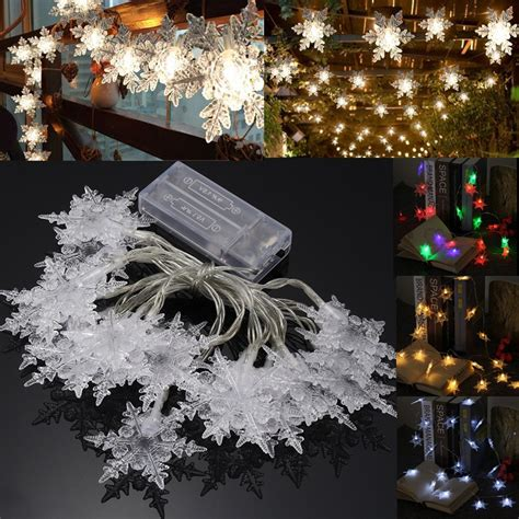 curtain fairy lights battery operated battery powered 2 1m 20led snowflake fairy string curtain