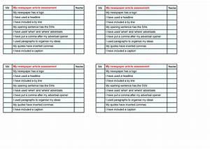 Ks2 Newspaper Article Checklist   Assessment By Julfa786