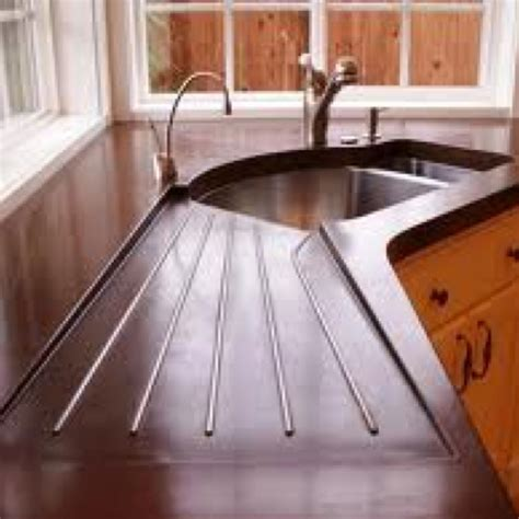 kitchen sink built into countertop 134 best images about concrete on pinterest