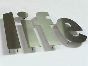flat cut stainless steel letters impact sign solutions With flat cut metal letters