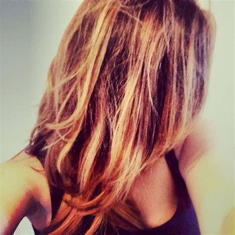 californian hair ombre brown undertone  blond dip