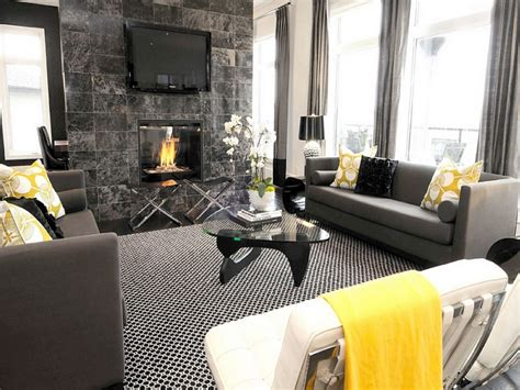 Home Decor Yellow And Gray : Copper Home Accents, White Grey And Yellow Living Room