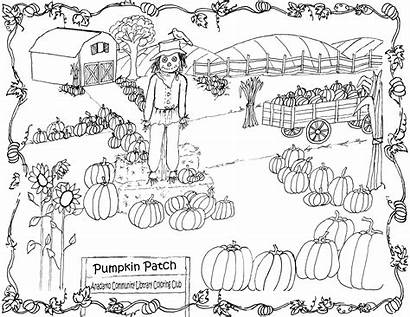 Pumpkin Coloring Patch Pages Printable Clipart Amish