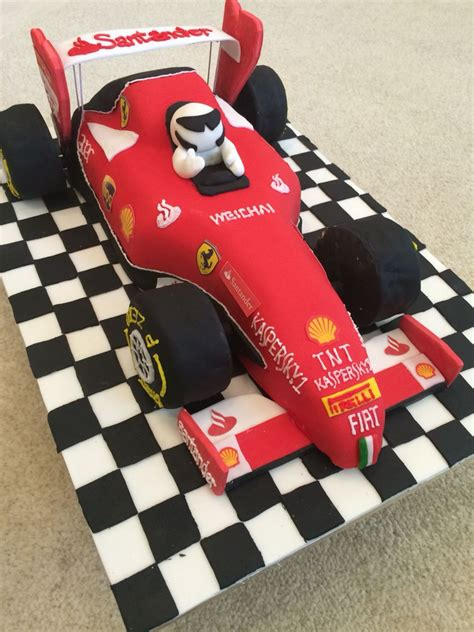 ferrari formula  racing car cake  birthday ideas
