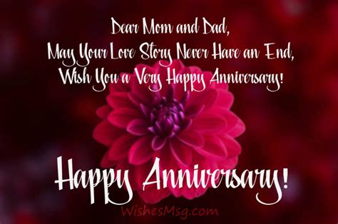anniversary wishes parents messages quotes wishesmsg