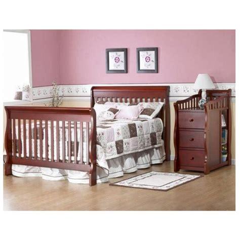 convertible baby crib changing table combo nursery