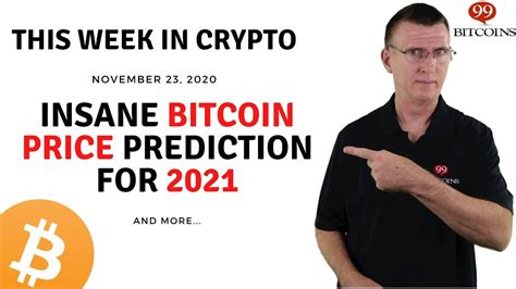 On thursday, the cryptocurrency market had seen around $290 billion wiped off its value since musk's tweet. Insane Bitcoin Price Prediction for 2021 | This Week in Crypto - Nov 23, 2020