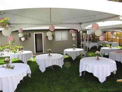 small backyard wedding ideas   budget backyard