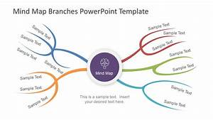 Min Map Powerpoint With Branches Slidemodel