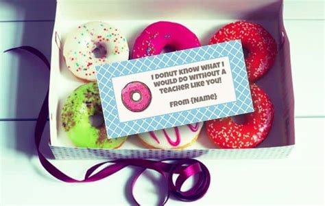 donut labels gift tags  bag toppers