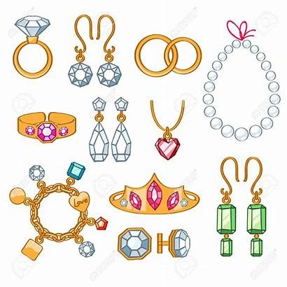 Adornment Clipart Bijoux Joyas Jewelry Cliparts Conjunto
