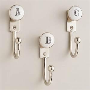 monogram letter hooks world market With letter shaped towel hooks