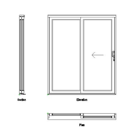 bypass closet doors 2d cad sliding patio doors cadblocksfree cad blocks free