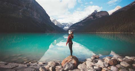 girl standing  rock  hd nature  wallpapers