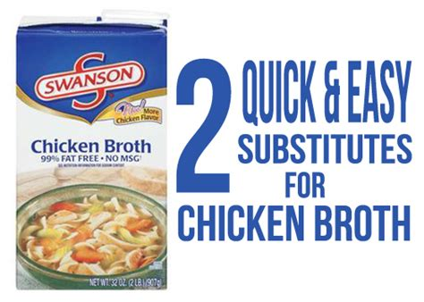 chicken stock substitute chicken broth substitute