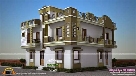 Double storied Gujarat model house - Kerala home design