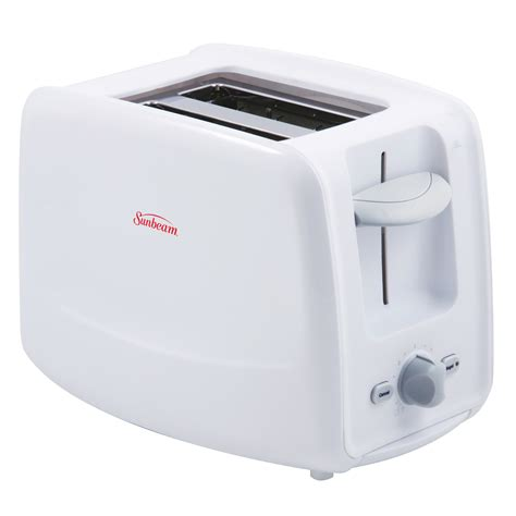 White Toaster by Sunbeam 174 2 Slice Retractable Cord Toaster White
