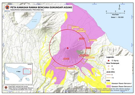 large magnitude eruption expected  balis mount agung dtm