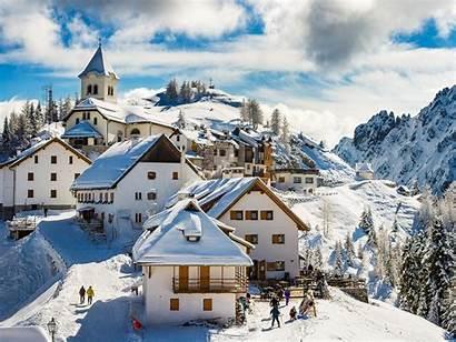 Lussari Alps Monte Village Italy Winter Mt