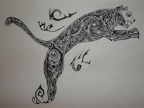 jumping traditional puma tattoo design golfiancom
