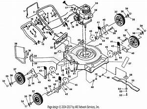 Poulan Pp735a Mower Parts Diagram For Mower Assembly
