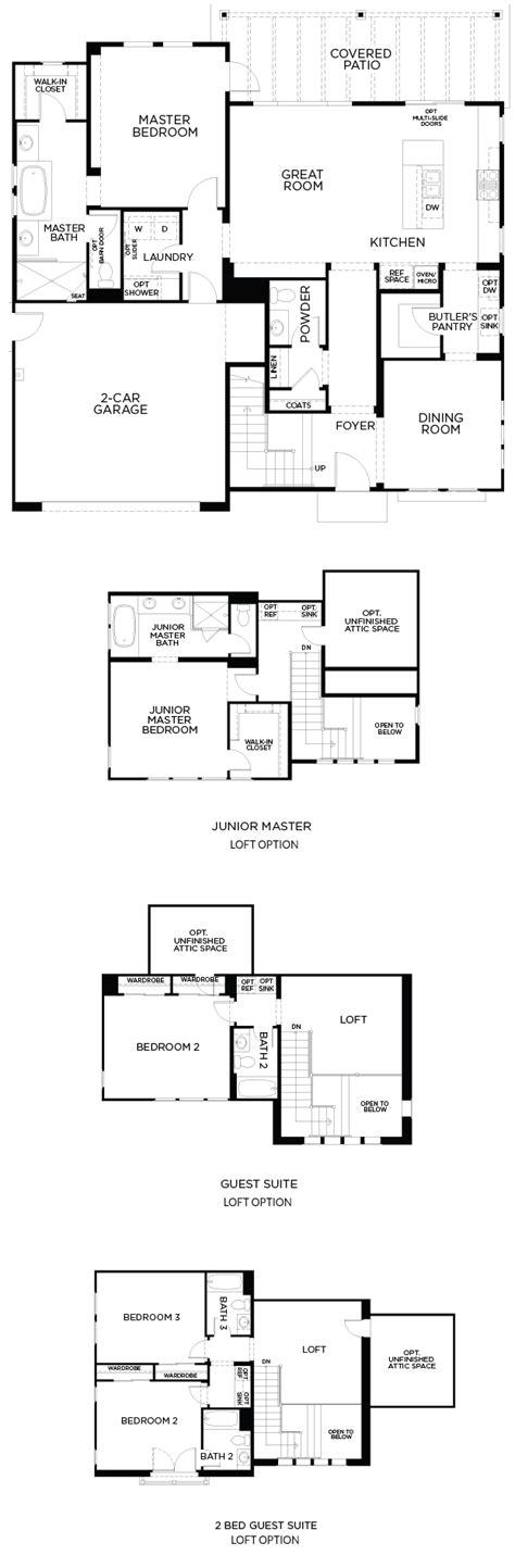 executive anvil pardee homes single story homes loft plan