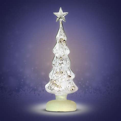 leuchtender weihnachtsbaum aus glas mit 6 wei 223 en leds