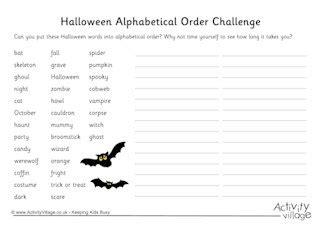 printable halloween worksheets kids