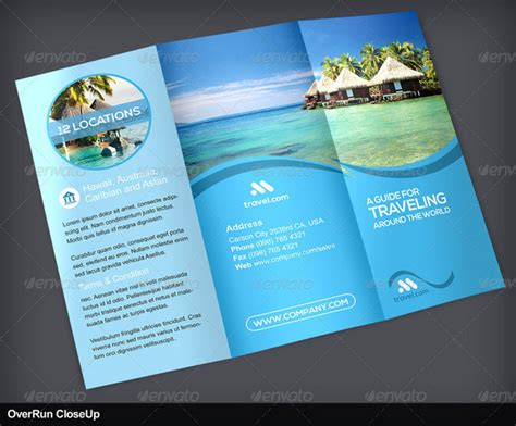 Tourist Brochure Template Free Download by 25 Travel And Tourism Brochure Templates