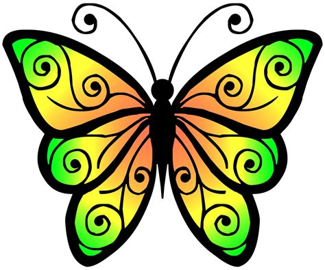 Butterfly Clip Clipart Butterfly 4 Free Stock Photo Domain Pictures