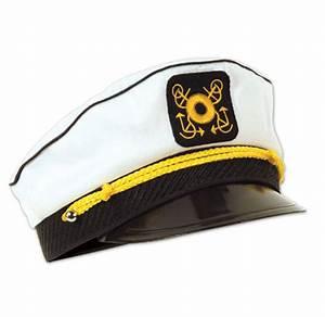 White Yacht Captain's Cap Nautical & Sailing Party