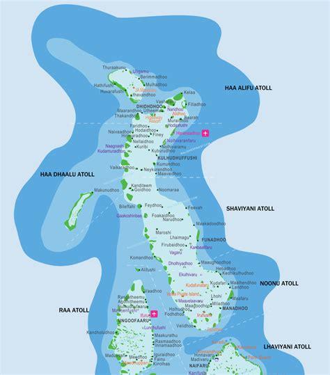 maldives map  resorts airports  local islands