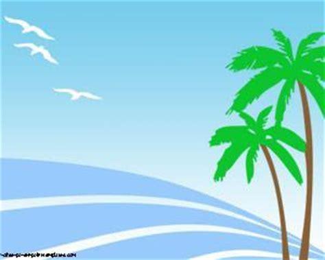 palmeras en la playa powerpoint plantillas powerpoint gratis