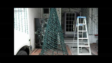 Lighted Spiral Christmas Tree Outdoor by How To Make A Pvc Spiral Tree Youtube